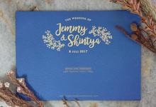 Jemmy & Tya Blue Rustic Wedding by Bluebelle Invitations