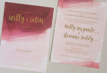 Teddy & Steviani Engagement Invitation by Bluebelle Invitations