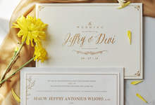 Jeffry & Devi wedding invitation by Bluebelle Invitations
