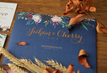 Juhan & Cherry Wedding Invitation by Bluebelle Invitations