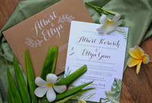 Albert & Ellyn Tropical Wedding Invitation by Bluebelle Invitations