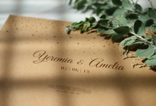 Yeremia & Amelia Rustic Stardust Invitation by Bluebelle Invitations