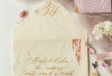 Boby Keshia Bespoke Wedding Invitation by Calligraphy By Mercia
