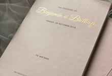 Benjamin & Brittney wedding invitation by Book.Idea