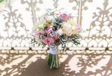 Flatten Gardens pretty in pink by Ginger Lily & Rose Floral Studio