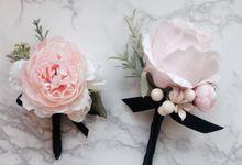 Boutonniere & Corsage by La Belle Vie flower