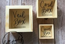 Coin | Cord | Veil Wooden Boxes by Calligraphy by Den