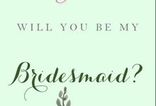 Bridesmaid Card by Clar's Invitation