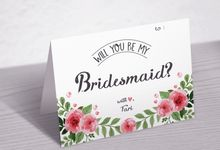 BRIDESMAID and BESTMAN CARD by Buna Project
