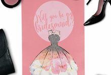 Will you be my bridesmaid invitation by She.Fox Invitations