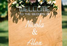 Wedding of Alex & Nicola by Lily Wedding Services
