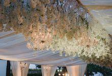 Elegant Ayana Sky Decoration by Bali Wedding Planner