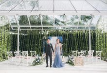 Dusty Blue Winter Theme Wedding by Le Conte Decor