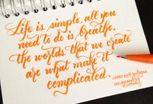 Brush Calligraphy by Oats DIY