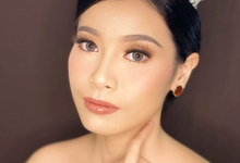 Wedding Makeup for Ms.Helvina by Brushed_byyohana