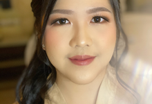 Makeup and Hairdo for Ms.Elviani by Brushed_byyohana