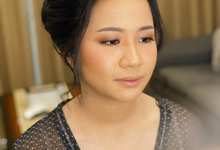 Natural Makeup Hairdo for Ms.Fira by Brushed_byyohana