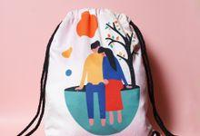 Drawstring bag by Sagu Hati