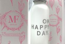Frosted Drinking Bottle Include Paperbag by Fine Souvenir