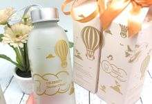 Frosted Drinking Bottle Jumbo Include Paperbag by Fine Souvenir