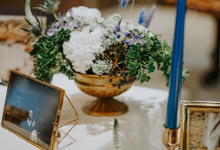 Blue & Gold Botanic Wedding  by Bucket Full Of Roses