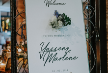 Blue & Gold Botanic Wedding  by Bucket Full Of Roses