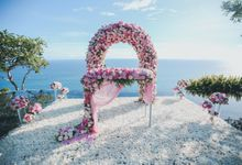 Pink Whimsical Water Wedding Zhao De Liang & Wang Xin at Bvlgari by Silverdust Decoration