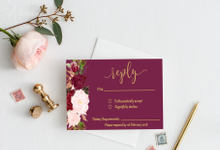 Burgundy Floral by Weddings by Mint