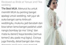 Testimonial Bride : Fika & Yanuar by MICHELLE AIRBRUSH MAKEUP