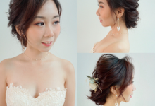 Bridal makeup and hair  by By Gaby Tan