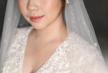 Air Brush Wedding Make Up & Hair Do for Jess by by Katarina Novita MUA