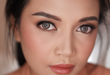 bronzy makeup by by_nadiaachmad