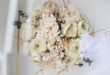 Classy and Elegant Blush Bouquet by Camila V Flower Preservation Studio