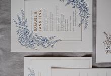Wedding Invite Design - Samuel & Tann Ting by Calligraphy by Natasha Dian