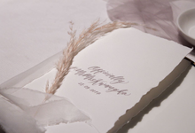 Placecard & Menu #MrMrsKwangko by Calligraphy by Natasha Dian