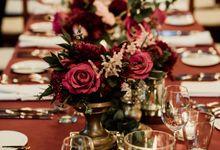 Seductive Marsala Wedding theme Decoration by Tirtha Bridal