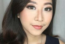 Glamour Party Makeup for Ms Inez by Brushed by Del