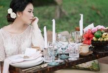 Elegant in White by Carmelia & Team Make Up Artist