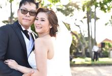 beach wedding by Carmelia & Team Make Up Artist