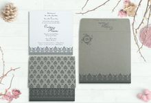 Wedding invitation design for Philip & Benjamin wedding by 123WeddingCards