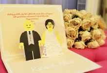 Lego Couple Pop Up card by Paperica