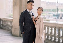 Stylish engagement photoshoot in Paris by Céline Chan Photographie