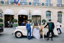 Romantic elopement in Paris by Katerina Meyvial Wedding & event planner