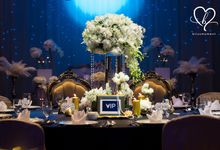 Classic Bold Black Gold White Wedding Reception at by Blissmoment