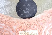 Gorgeous Pink Wedding Pillow for Glenn Alinskie & Chelsea Olivia by Fashion Pillow Weds
