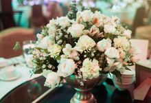 Reception Styling by Natural Art Flowers and Decors