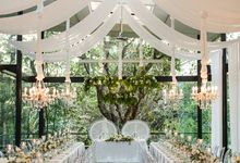 White Nights Wedding theme decoration at The Glass House by Tirtha by Tirtha Bali