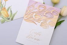 TULIPS IN SPRING by BloomingDays Invitation Studio
