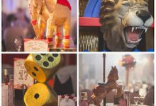 Guests mesmerised by Unique Circus Themed Wedding Cake by Sweet Hollywood