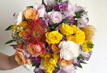 Enchant in Bold Colors Bouquet by Flourish by Charlene
